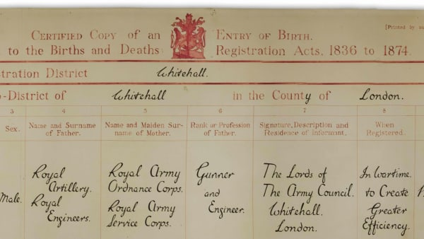 Collections in Focus: Corps Birth Certificate