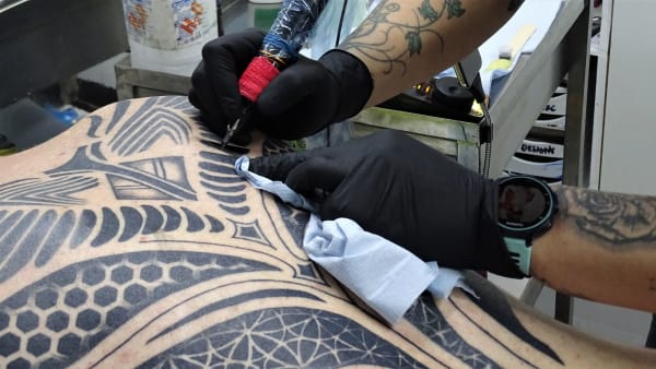 Live Tattooing for Military Ink Exhibition