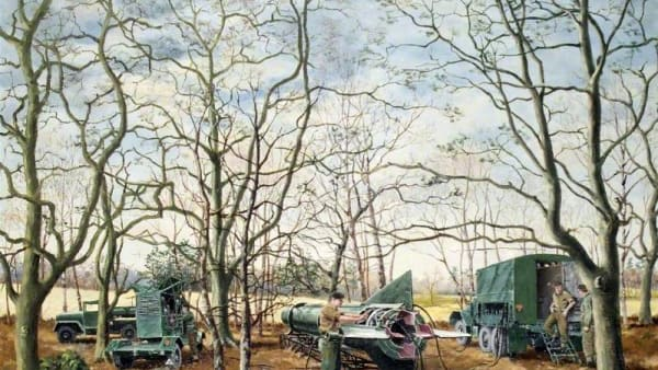 In the Frame: Soldiers in a Wooded Landscape